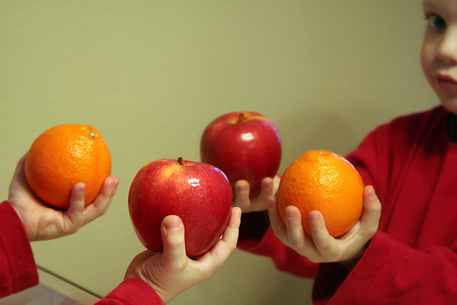 comparing apples and oranges when shorting stock